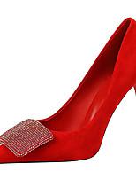 cheap -Women's Heels Stiletto Heel Pointed Toe Synthetics Sweet / Minimalism Fall / Spring & Summer Black / Wine / Almond