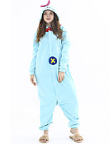 cheap -Adults' Kigurumi Pajamas Cartoon Onesie Pajamas Flannelette Light Blue Cosplay For Animal Sleepwear Cartoon Festival / Holiday Costumes / Leotard / Onesie