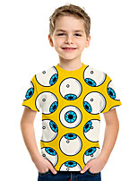 cheap -Kids Boys' Active Street chic 3D Print Short Sleeve Tee Yellow