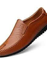 cheap -Men's Comfort Shoes Cowhide Fall & Winter Loafers & Slip-Ons Black / Light Brown / Dark Brown