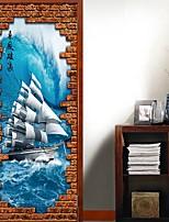 cheap -Nautical Wall Stickers Plane Wall Stickers Decorative Wall Stickers, PVC Home Decoration Wall Decal Wall Decoration 1pc