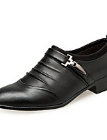 cheap -Men's Formal Shoes Faux Leather Spring & Summer / Fall & Winter Business / Casual Loafers & Slip-Ons Booties / Ankle Boots Black / Dark Brown