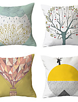 cheap -4 pcs Throw Pillow Simple Classic 45*45 cm  Car Waist Pillow Sofa cushion cover flannelette printing creative Home Office cushion