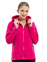 cheap -Women's Hiking Fleece Jacket Winter Outdoor Windproof Fleece Lining Warm Comfortable Jacket Winter Fleece Jacket Top Fleece Single Slider Climbing Camping / Hiking / Caving Winter Sports Purple