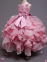 cheap -Princess Dress Flower Girl Dress Girls' Movie Cosplay A-Line Slip Cosplay Pink / Beige / Gray Dress Halloween Carnival Masquerade Tulle Polyester