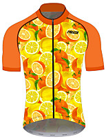 cheap -21Grams Women's Short Sleeve Cycling Jersey 100% Polyester Red / Yellow Fruit Lemon Bike Jersey Top Mountain Bike MTB Road Bike Cycling UV Resistant Breathable Quick Dry Sports Clothing Apparel