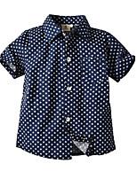 cheap -Kids Toddler Boys' Basic Street chic Galaxy Short Sleeve Shirt Royal Blue