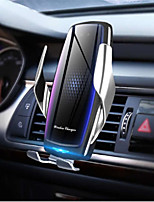 cheap -10W wireless car charger with air purifier Qi automatic clamp fast 10W charging stand suitable for Huawei p30pro mate30 iphone11 XR XS Max
