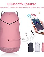 cheap -New Cat Gift Bluetooth Speaker With LED Atmosphere Light Subwoofer Cartoon Innovative Hands-Free Calling Wireless Speakers