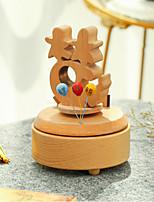 abordables -Boîte à musique Vacances Rétro Créatif En bois 1 pcs Enfant Adulte Tous Jouet Cadeau