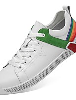 cheap -Men's Comfort Shoes Leather Fall & Winter Sneakers Black / Green / Red