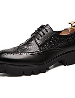 cheap -Men's Formal Shoes Synthetics Spring & Summer / Fall & Winter Casual / British Oxfords Non-slipping Black / Party & Evening