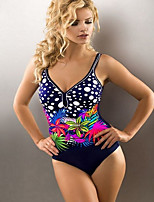 cheap -Women's Black Navy Blue Bikini Swimwear - Color Block M L XL Black