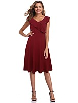 cheap -The Marvelous Mrs. Maisel Retro Vintage 1950s Wasp-Waisted Summer Dress Women's Spandex Cotton Costume Ink Blue / Burgundy Vintage Cosplay Party Daily Wear Sleeveless Knee Length