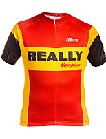cheap -21Grams Men's Short Sleeve Cycling Jersey Winter 100% Polyester Red+Golden Bike Jersey Top Mountain Bike MTB Road Bike Cycling UV Resistant Breathable Quick Dry Sports Clothing Apparel / Stretchy