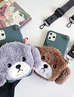 cheap -Case For Apple iPhone 11 / iPhone 11 Pro / iPhone 11 Pro Max Wallet / Shockproof Back Cover Dog / Solid Colored / Animal TPU