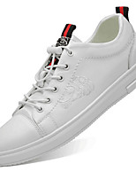 cheap -Men's Comfort Shoes Leather Fall & Winter Sneakers Black / White