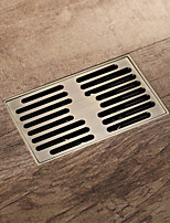 cheap -Bathroom Shower Drain 14x9cm Rectangle Brass Floor Drain Antique Brass / Brushed