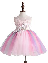 cheap -Princess Unicorn Dress Flower Girl Dress Girls' Movie Cosplay A-Line Slip Cosplay Pink Dress Halloween Carnival Masquerade Tulle Cotton