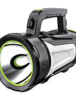 abordables -Lampes de poche 500 lm LED LED 1 Émetteurs avec Chargeur Portable Camping / Randonnée / Spéléologie Usage quotidien Cyclisme Noir