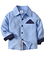 cheap -Kids Toddler Boys' Basic Street chic Solid Colored Long Sleeve Shirt Blue