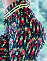 cheap -Women's High Waist Yoga Pants Fashion Rainbow Elastane Running Fitness Gym Workout Tights Sport Activewear Breathable Moisture Wicking Butt Lift Tummy Control Micro-elastic Slim