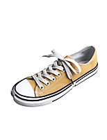 cheap -Men's Comfort Shoes Canvas Spring & Summer Casual Sneakers Black / White / Yellow