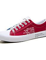 cheap -Men's Comfort Shoes Canvas Spring & Summer Casual Sneakers Black / Red