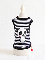 cheap -Dog Costume Vest Rabbit Panda Dog Clothes Breathable Black Blue Pink Costume Beagle Bichon Frise Chihuahua Cotton Stripes Animal Character Ordinary Casual / Sporty XS S M L XL