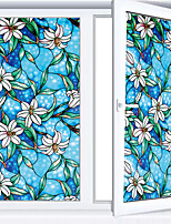 cheap -Vinyl Static Cling Window ShadeBlue Orchid Privacy Stained Glass Decorative Window Film Heat Control Window Tint / Window Sticker / Door Sticker