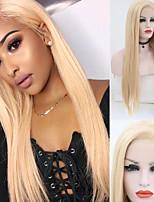 abordables -Perruque Lace Front Synthétique Droit Partie latérale Lace Frontale Perruque Long Blond clair Cheveux Synthétiques 18-26 pouce Femme Doux Ajustable Soirée Blond