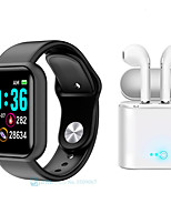 cheap -M9 Smartwatch Bluetooth Fitness Tracker for Apple/ Samsung/ Android Phones Support Heart Rate Monitor/ Notify, with TWS Wireless Headphones