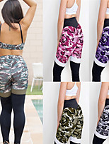 cheap -Women's High Waist Yoga Pants Camo / Camouflage Purple Green Pink Grey Running Fitness Gym Workout Tights Sport Activewear Breathable Moisture Wicking Butt Lift Tummy Control High Elasticity Skinny