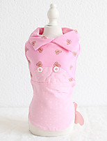 cheap -Dog Costume Dress Dog Clothes Breathable Rose Gold Yellow Blue Wedding Costume Beagle Bichon Frise Chihuahua Cotton Character Embroidered Love Casual / Sporty Cute XS S M L XL