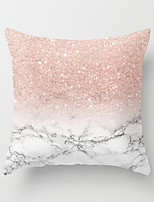 cheap -1 pcs Polyester Pillow Cover Hold Pillow Marbled-Grain Pink Stripe Sitting Room Cushion for Leaning on Sofa Pillow of Northern Europe Wind Head of a Bed Pink Cushion for Leaning on is Covered