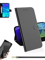 cheap -Case For Huawei P30 / Huawei P30 Pro / Huawei P30 Lite Wallet / Card Holder / with Stand Full Body Cases Solid Colored PU Leather / TPU for Huawei Honor 10 Lite / Y5 2019 / Y6 2019
