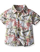 cheap -Kids Toddler Boys' Basic Geometric Short Sleeve Shirt White