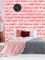 abordables -Rose brique auto-adhésif papier peint 3d étanche décor à la maison fonds d'écran pour salon décoratif stickers muraux 45 cm * 100 cm