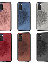 cheap -Case For Samsung Galaxy Note 10/Note 10 Plus/A10s Ultra-thin / Pattern Back Cover Solid Colored / Flower TPU / Canvas For Galaxy A20S/S20/S20 Plus/S20 Ultra/A51/A71/A81/A91