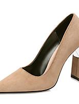 cheap -Women's Heels Chunky Heel Pointed Toe Synthetics Sweet / British Fall / Spring & Summer Black / Wine / Almond