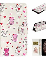 cheap -Case For Apple iPhone 11 / iPhone 11 Pro / iPhone 11 Pro Max Wallet / Card Holder / with Stand Full Body Cases Cat PU Leather For iPhone XS Max/XS/XR/X/8 Plus/7/6/6s Plus/5/5S/SE