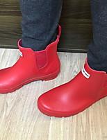 cheap -Women's Boots Flat Heel Round Toe PVC Mid-Calf Boots Spring &  Fall Black / Purple / Green