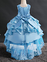 cheap -Princess Dress Flower Girl Dress Girls' Movie Cosplay A-Line Slip Cosplay White / Ink Blue / Red Dress Halloween Carnival Masquerade Tulle Bead Polyester