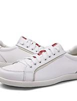 cheap -Men's Comfort Shoes PU Fall & Winter Sneakers Black / White