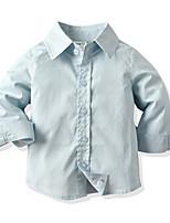 cheap -Kids Boys' Basic Christmas Home Solid Colored Print Long Sleeve Regular Regular Clothing Set Light Blue