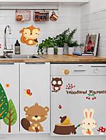 cheap -Cartoon Cute Forest Animals Designed Wall Sticker Flower for Livingroom Home Decor DIY Wall Sticker for Children Room Kids Babies Bedroom