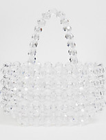 cheap -Women's PVC(PolyVinyl Chloride) Top Handle Bag Solid Color White