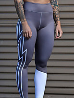 cheap -Women's High Waist Yoga Pants Fashion Grey Running Fitness Gym Workout Tights Sport Activewear Breathable Moisture Wicking Butt Lift Tummy Control High Elasticity Skinny