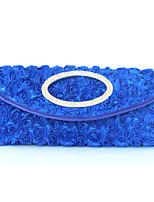 cheap -Women's / Girls' Flower / Embossed Synthetic / Alloy Evening Bag Geometric Pattern Royal Blue