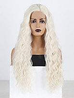 cheap -Synthetic Lace Front Wig Curly Loose Curl Side Part Lace Front Wig Long Platinum Blonde Synthetic Hair 18-26 inch Women's Heat Resistant Classic Synthetic Blonde / Natural Hairline